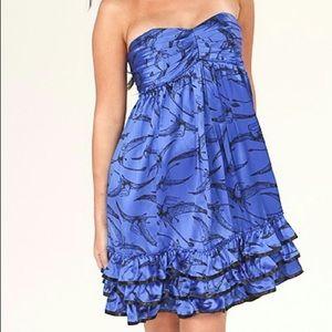 BETSEY JOHNSON Pterodactyl Silk Dress!